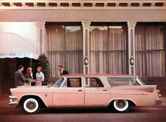 DODGE PINK SIERRA STATION WAGON 1958