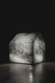 Glass House by #StuartHaygarth #lightart #lightartaday LIGHT ART A DAY