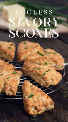 These Eggless Savory Scones are one of the best appetizers you can prepare for a friend gathering. My Recipes, Favorite Recipes, Healthy Recipes, Scone Recipes, Savory Scones, Savoury Dishes, Eggless Scone Recipe, Best Appetizers, Appetizer Recipes