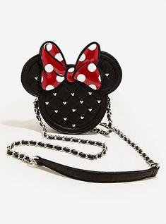 Loungefly Disney Quilted Minnie Mouse Crossbody Bag, , hi-res Minnie Mouse Purse, Mickey Y Minnie, Disney Quilt, Disney Wishes, Disney Purse, Disney Outfits, Disney Fashion, Nerd Fashion, Fandom Fashion