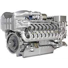Судовой двигатель MTU серии 4000 16V4000M73L (Германия) Электронная система управления двигателем MDEC.