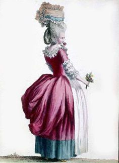 https://flic.kr/p/6km91C | 18th century fashion plate 6 | A woman in fashion of 1770's.