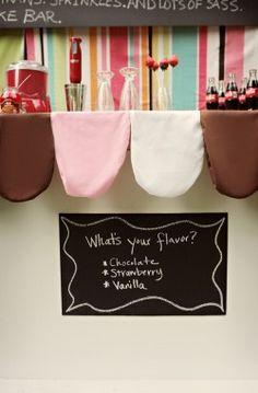Retro rockabilly milkshake bar inspiration from Kellie Kano and Elissa Keno via Elizabeth Anne Designs