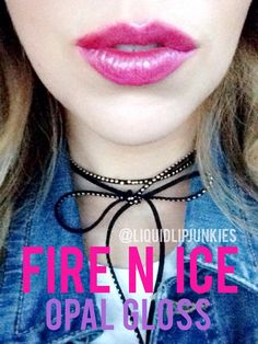 I am wearing LipSense Fire N Ice with Opal Gloss | Liquid Lip Junkies