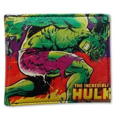 by Smart Living Company Outside features a very cool and vibrant image of your favorite Marvel superhero, The Incredible Hulk. Inside features an ID slot, credit card slots and small zipper compartment.