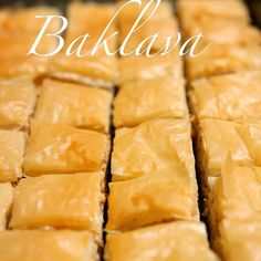 Baklava Recipe Desserts with phyllo pastry, walnuts, butter, sugar ...