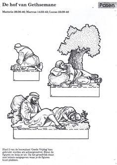 huerto de los olivos. Discipulos durmiendo