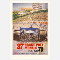 Monaco Grand Prix '79 Lithograph, $99, now featured on Fab.
