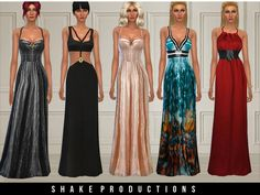 The Sims Resource: Dress set 26 by ShakeProductions • Sims 4 Downloads
