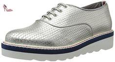 Tommy Hilfiger P1285aulina 2a1, Derby Femme, Argent (Light Silver 041), 39 EU - Chaussures tommy hilfiger (*Partner-Link)