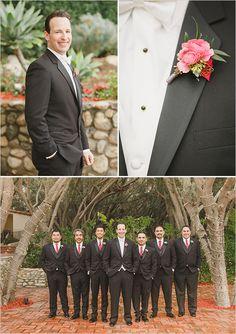 groomsman black suits @weddingchicks