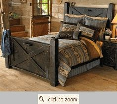 What a great idea old barn doors turned into headboard and foot board