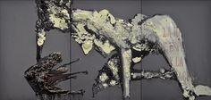 Gaetano Costa San Giorgio ed il drago (210x100) poliuretano ed acrilico su carta - 2010  polyurethane, acrylic on paper
