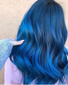 @goddessofbalayage is the artist... Pulp Riot is the paint.    #pulpriothair #hair #haircolor #hairstyle #beauty #blues