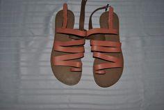 Lucky Brand Fairwayy Women's US 6 salmon Leather Slingback Sandals NWT #LuckyBrand #Slingbacks #Casual