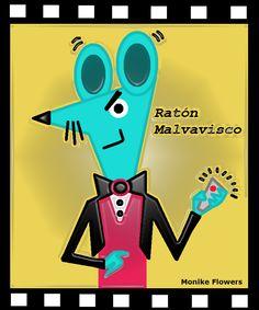 Ratón Malvavisco. Astuto, ingenioso pero envidioso. Es el protagonistas del cuento para niños: La Constelación del Elefante Elegante.