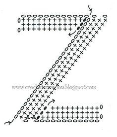 Crochet pillow letter Z Crochet Motifs, Basic Crochet Stitches, Crochet Diagram, Crochet Chart, Crochet Basics, Love Crochet, Crochet Doilies, Knit Crochet, Crochet Patterns