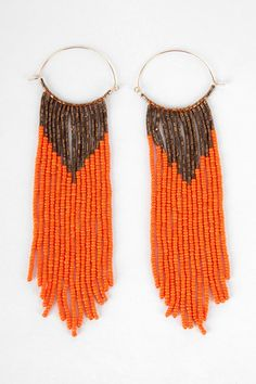 beaded brazil earrings