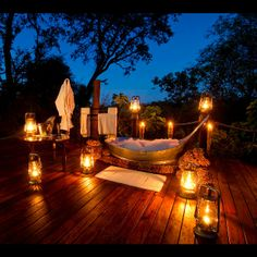 Sanctuary Baines' Camp, Botswana Reconnect with your animalistic desires at this Botswana safari outpost. After a day of exploring Moremi Game Reserve, retreat to your private star deck at Sanctuary Baines' Camp where you can try out some of those animal positions for yourself under an endless African sky. With just five suites, you won't have to worry about disturbing too many neighbours … and if you do, just pass off those noises as the local wildlife. (Source: Sanctuary Retreats)