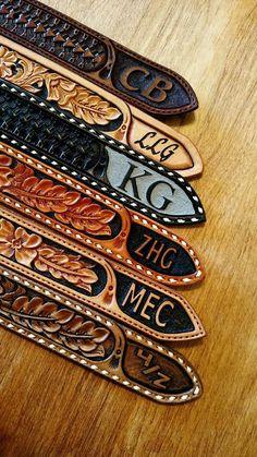 Custom Belts made at LTLW #handtooledleatherbelt #custombelt #country #western