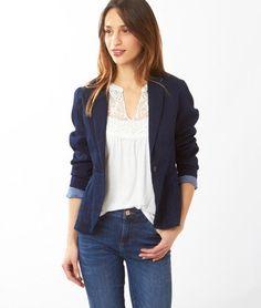 veste + blouse blanche