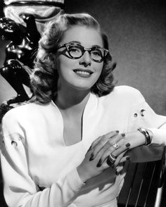 Love love love! Eleanor Parker Wearing Eyeglasses Photograph