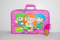 Vintage Suitcase Norfin Trolls Neon Bright by CheekyVintageCloset, $24.00