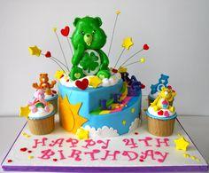 Celebrate with Cake!: Care Bears Cake girl boys party cake cupcake cake pop birthday rainbow