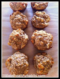 Little b's healthy habits: Clean Cinnamon Apple Protein Muffins @McKenzie Hooks