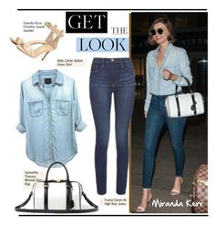 """""""Get the look: Miranda Kerr"""" by hamaly ❤ liked on Polyvore featuring GetTheLook, StreetStyle, denim, mirandakerr and waystowear"""