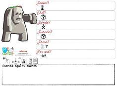 CREAR MINI HISTORIAS CON ORGANIZADOR DE PREGUNTAS PREVIAS. Versión con Pictogramas Elementary Spanish, Storytelling, Student, Speech Pathology, Special Needs, Creative Writing