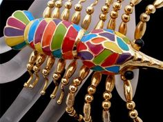 Huge 4 inch Enameled Lobster Sea Creature Figural Vintage Estate Brooch Pin | eBay