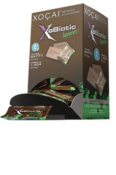Xocai XoBiotic Squares.  My favorite of the chocolate product line.  Has Probiotics which are excellent for digestive health.