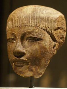 Berlin, Neues Museum, Kopf einer Schreiberfigur (New Museum, head of a scribe figure, reign of Amenhotep III) From Egypt