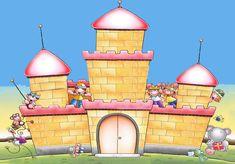 castillo infantil con ventanas