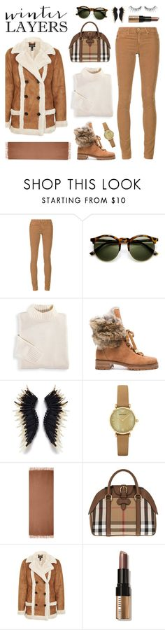 """""""Winter Layers"""" by lgb321 ❤ liked on Polyvore featuring AG Adriano Goldschmied, Blair, Alexandre Birman, Emporio Armani, Acne Studios, Burberry, Topshop, Bobbi Brown Cosmetics, MAKE UP FOR EVER and sundance"""