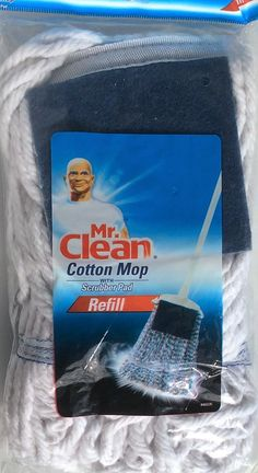 Mr. Clean Cotton Mop with Scrubber Pad Refill