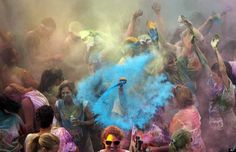 Runners are doused with water-soluble non-toxic colored corn starch after the Color Me Rad at the Virginia Beach Sportsplex. The run benefits the YMCA of South Hampton Roads. Colored Corn, South Hampton, Hampton Roads, World Web, Vivid Colors, Colours, Ansel Adams, Photo Colour