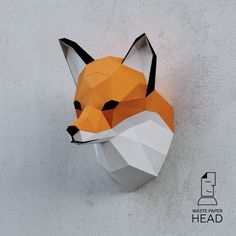 You can make your own fox head for wall decoration!  Printable digital DIY template (bitmap .PDF) for fox head contains 8 pages and 27 details (difficulty: medium). With the help of it, you will create a polygonal paper sculpture.  For the best final result to be done, you need to folow this simple steps:  1. Print the template on thick paper. To do this, you should buy 160-240 g/m2 colored paper. Dimensions of the sculpture depends on the size of paper on which you print - H25хW20хD20 c...