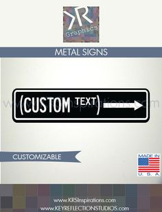 Custom Text Directional Hanging Sign $14.95 USD
