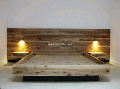 reclaimed wood pallet bed