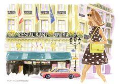 ayako onozuka #illustration #Fashion #Watercolor #Landscape #newyork #イラストレーション