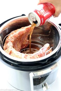 Instant Pot Ribs- so quick and easy to make. You can serve fall off the bone ribs in no time at all. Instant Pot Ribs- so quick and easy to make. You can serve fall off the bone ribs in no time at all. Instant Pot Pressure Cooker, Pressure Cooking, Ribs In Pressure Cooker, Easy Pressure Cooker Recipes, Pressure Pot, Pressure Cooker Ribs Pork, Instant Cooker, Crockpot Recipes, Cooking Recipes