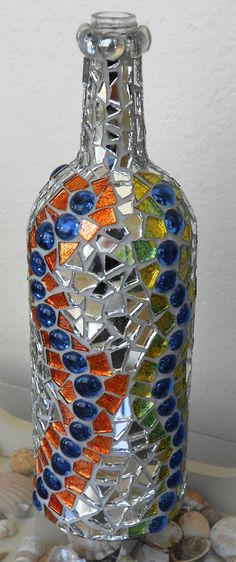 Mosaic bottle, love the mirror pieces