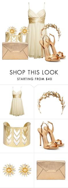 """""""Daughter of Apollo ~ Formal"""" by accio-hogwarts-81 ❤ liked on Polyvore featuring Charlotte Russe, Laurel Wreath Collection, Giuseppe Zanotti, Kenneth Jay Lane and MICHAEL Michael Kors"""