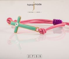 Γυναικείο βραχιόλι με σταυρό. #handmade #jewelry #fashion
