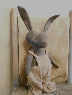 Primitive Black Bunny    For Sale    email me for purchase~  wootown2003@yahoo.com    By Thy Hands Tinkerings 2013