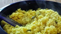 Resep Nasi Kuning Rice Cooker Indonesian Food, Indonesian Recipes, Steamed Rice, Rice Cooker, Rice Recipes, Macaroni And Cheese, Food And Drink, Coconut, Cooking