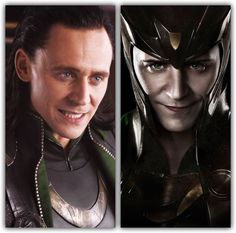 """Okay guys sit down and listen. First picture is from the Avengers and the next is from the promo for Thor. Notice something off? HIS EYES. and you can't tell me it was a makeup flaw thing, this was deliberate. I think that whatever caused Loki to try and take over the earth wasn't him. And the fact that he helped Thor in Thor the Dark World and """"saved"""" him makes me think that something was up during the avengers that we are not totally aware of yet. I rest my case."""