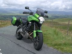 Kawasaki Versys on the Cambian Mountains, Wales, U. Versys 650, Cars And Motorcycles, Wales, Adventure, Mountains, Vehicles, Voyage, Welsh Country, Car